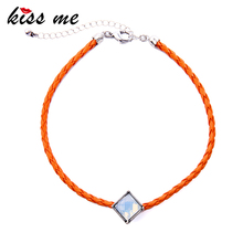 KISS ME Handmade Weave Choker Necklace New Orange Black Geometric Collar Necklace Fashion Jewelry