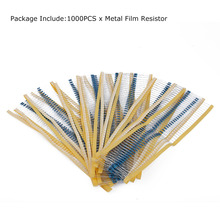 1000PCS 220 Ohm 1/4W Resistance 1% Metal Film Resistor Resistance Assortment Kits Set Electronic Accessories Kits