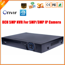Motion Detect CCTV DVR 8 Channel 8CH 5MP/ 16CH 3MP CCTV DVR For 5MP/3MP/2MP IP Camera ONVIF 2.0 Wifi FTP 1CH Audio Input