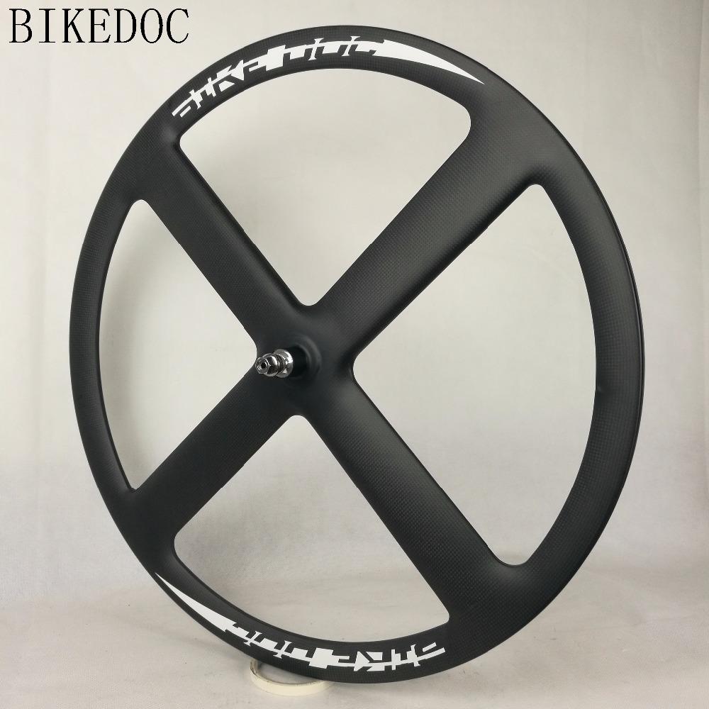 BIKEDOC 700c 4 speichen carbon räder fixie carbon laufradsatz vier ...