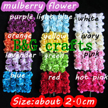 Mulberry Paper Rose Flower Bunch/SCRAPBOOKING artificial flower / FREE SHIPPING 288pcs/lot