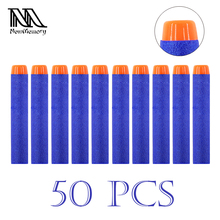 50 Pcs 7.2cm EVA Toy Bullets for Nerf Retaliator Series Blasters Refill Clip Darts for Children Toy Gun Accessories Kids Gift