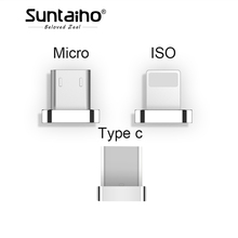 Suntaiho 2 in1 Magnetic cable Fast Charger iPhone 8 7 Plus Type C/Micro USB/ISO Magnetic adapter S8 p redmi 4X 4A Note4