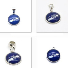 2017 New Fashion Seattle Seahawks Charm Pendant Fit Bracelet&Floating Locket Charms DIY Dangle Charms Jewelry Football Fans