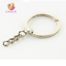 10 pcs Nickel color key chain key ring Jewelry Parts Wholesale
