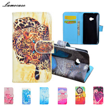 JR 10 Patterns Fashion Flip PU Leather Case for HTC One dual sim 802t 802w 802d Cover Wallet Phone Cases with Stand Card Holder
