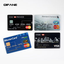 QIFANE 32GB Custom LOGO credit card U Disk 16GB Customized pen drive 8GB USB Flash Drive 64GB business gift USB Free shipping(China)