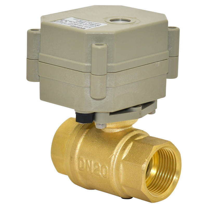 3/4 DC12V 7 wires Motorized ball valve, DN20 Electric ball valve 2 way full bore with indicator for water treatment<br>