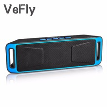VeFly Wireless 4.2 Bluetooth Speaker, column Stereo Subwoofer USB Speakers computer TF Built-in Mic Bass mp3 player Sound Box(China)