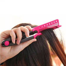 Multifunctional Fashion V Type Hair Straightener Comb DIY Salon Haircut Hair Style Hairdressing Styling Tool Beauty Combs