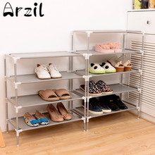 Metal Adjustable Shoes Shelf Storage Rack Stand Household Organizer Boot Storage Holder Houseware Home Practical Tools 2-7 Tiers(China)
