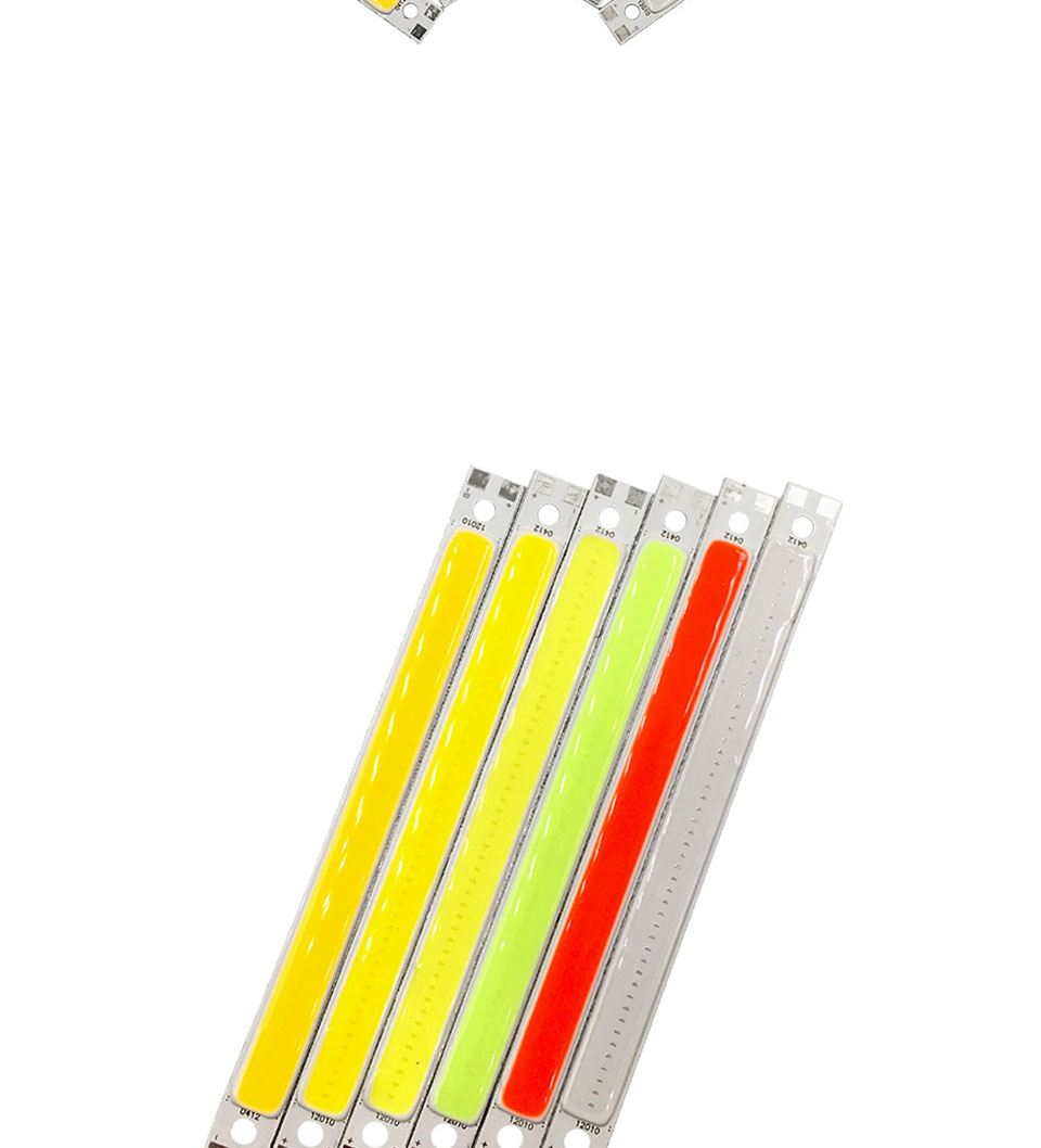 120mm 4.72in LED Bar Light Strip COB Bulb 12V 7W 10W LED Lamp Green Blue Red White Emitting Colors 12010mm COB Chip (2)