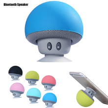 Creative Small Functional Portable Sucker Mushroom Hands Free Wireless Bluetooth USB Speaker And Phone Stand Holder