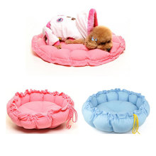 Sweet Pet Puppy Cat Dog Winter Warm Cushion Couch Basket Sofa Bed Mat House Round Bottom Pumpkin PP Cotton Inside Plush Cloth