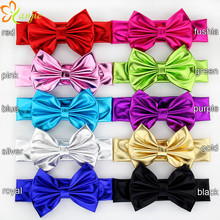 "10pcs/lot 5"" Gold/Silver Big Glitter Metallic Messy Bow Headband For Girls And Kids Hair Bow Headband Hair Accessories"