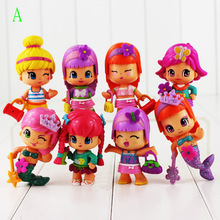 8cm Mini 8pcs/lot New Game The Little Girl Figures Little Lockables Birthday Puppy Sleepover Pvc Figure Doll Toys Kids Gift(China)