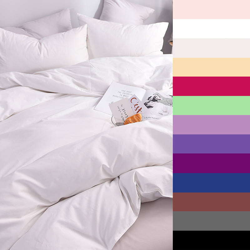 600TC Pure Cotton Luxury Duvet Cover 140x200 Custom Size Bedding King Queen  Solid Color Printed 1PCS