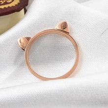 Low price Wholesale Fashion Accessories Jewellery animal Rings, Lovely Kitty Cats Ear Rings for Women Best Wedding Party Gifts