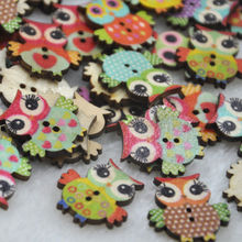 50pc Mix Baby Owl Birds Carton Buttons Kid' Baby Sewing Craft WB350