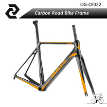OG-EVKIN chinese Cyclocross Bike T800 high quality full carbon fiber bike frame road Bicicleta 46/49/52/54cm orange