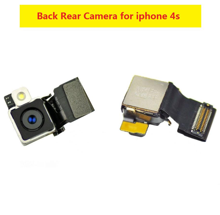 100% best quality Spare Parts for iphone 4s Genuine 8MP Back Rear Head Camera Photo with Flash Replacement Parts For iPhone 4S