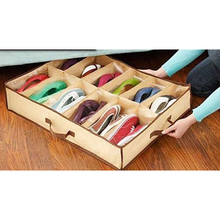 Non Woven Fabric Waterproof Folding Shoe Holder 12 pcs Shoes Storage Box Dustproof Shoe Organizer Shoe Storage Box