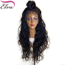 Natural Wave Silk Base Wigs Glueless Lace Front Human Hair Wigs Pre Plucked Brazilian Remy Elva Hair Silk Top Wig With Baby Hair(China)