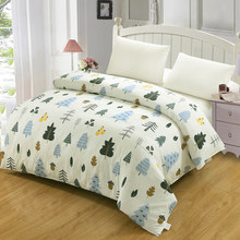 Spring Cartoon green all kind of tree Duvet Cover Bedding twin Queen king Size For children pineapple fruit 100% cotton textile(China)