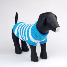 Winter Unisex Small Pet Dogs Cat Lovely Stripes Sweater Coat Knitwear Apparel(China)