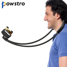 Powstro Neck Hang Style Phone Holder Lazy Person Bendable 360 Degree Rotation Mobile Stand Bracket Simple Selfie Stick