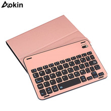Aokin Split Bluetooth Keyboard For iPad Pro 10.5 Wireless Rechargeable Keyboard ABS+PU Leather Case Bracket Non-slip Design(China)