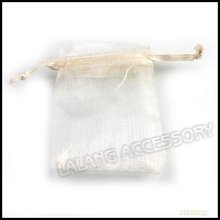 150pcs/lot Wholesale Beige Organza Pouches Jewelry Bags with Gold Heart Patterns 5x7cm Fit Wedding & Gift Favour 120390