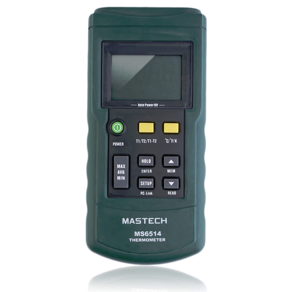 2017 Original MASTECH MS6511 single channel digital thermometer J,K,T,E thermometer Thermocouple type temperature detector<br>
