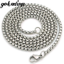 GOKADIMA women Stainless Steel Chain Men Necklace Jewelry Accessories, link chain Wholesale WN324(China)
