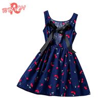Trendy Baby Sundress Little Girl Kids Halter Dresses For Infant Holiday Party Costume Children Clothing Girl 2-8 Year Cheap Sale
