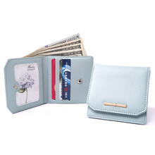 Prettyzys Women Short Wallets Pu Leather Change Purse Card Holder Female Perse for Money and Coins Zipper Thin Slim Small Light(China)