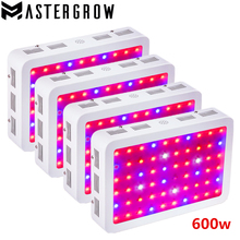 4PCS DIAMOND II 600W Double Chip LED Grow Light Full Spectrum 410-730nm For Indoor Plants and Flower Phrase with Very High Yield(China)