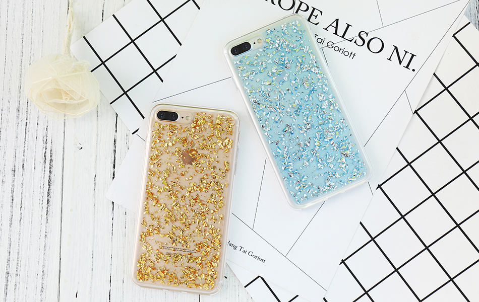 DOEES For iPhone 7 6 6S Plus 5 5S SE Case Luxury Cute Glitter Clear Case For Samsung Galaxy S8 Plus S7 S6 Edge S5 Note 7 5 Back Cover (9)