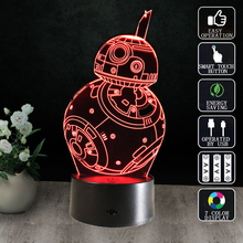 Gifts Star Wars Table Lamp 3D Night Light Robot USB Led Table Desk Lampara as Home Decor Bedroom Reading Nightlight(China)