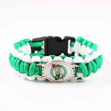 New Basketball Fans Boston Charm Paracord Survival Bracelet Friendship Outdoor Camping Bracelet Drop Shipping on Alibaba Express