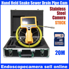 20M waterproof Drain Sewer Inspection Video Camera,Industrial video Endoscope camera,Pipe video Borescope camera with DVR(China)