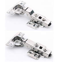 4 pcs/Lot Stainless Steel Soft-close Cabinet Door Hinge with Hydraulic Buffer Removable Detachable Cup/Base(China)