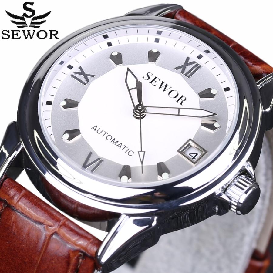 2017 New SEWOR Men Watches Top Brand Luxury Date Luminous Clock Male Casual Automatic Mechanical Watch Men Business Wristwatch<br><br>Aliexpress