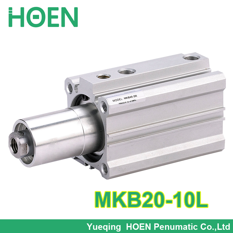 MKB20-10L double acting rotary air cylinders 20mm bore 10mm stroke clockwise rotary clamp pneumatic cylinder MKB series<br><br>Aliexpress