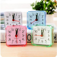Vintage Fine Square Bed Compact Travel Desktop Alarm Clock Outdoor Table Creative Gift High Quality(China)