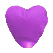 10pcs purple Paper Chinese Lanterns Fire Sky Fly Candle Lamp for Birthday Wish Party Wedding Decoration