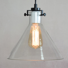 Willlustr CLEAR GLASS FUNNEL FILAMENT PENDANT LIGHT America country Transparent shade lamp Edison Bulb Meridian lighting RH(China)