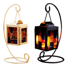 lovely pet Retro Iron Moroccan Style Christmas Candlestick Lamp Candleholder Light sep930