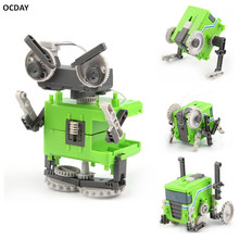 OCDAY Four In One Transformation Assembly Robot Toy Special Design Models & Building DIY Experimentation Exploiture Toy New