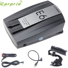 CARPRIE Super drop ship Fahsion New E6 Laser Speed Of 360 degree Voice Warning Car Electronic Dog Radar Detector Mar712(China)